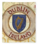 Ireland Coat Of Arms Fleece Blanket by Debbie DeWitt