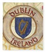 Ireland Coat Of Arms Fleece Blanket