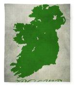 Ireland Grunge Map Fleece Blanket