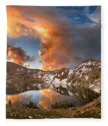 Ireland Lake Sunrise - Yosemite Fleece Blanket