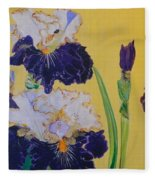 Iris Afternoon Delight Fleece Blanket