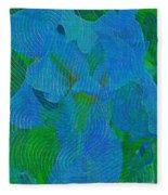 Iris Ageless Blossom  Fleece Blanket