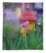 Iris And Fire Plug Fleece Blanket