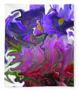 Iris And Tulip Fleece Blanket