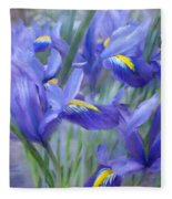 Iris Bouquet Fleece Blanket