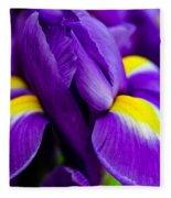 Iris Detail 2 Fleece Blanket