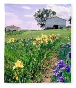 Iris Farm Fleece Blanket