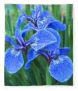 Iris Floral  Fleece Blanket