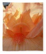 Iris Flower Art Prints Sunlit Orange Irises Baslee Troutman Fleece Blanket