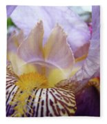 Iris Flower Art Purple Lavender Irises Giclee Prints Baslee Troutman  Fleece Blanket