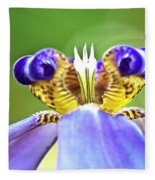 Iris Flower Fleece Blanket