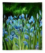 Iris Galore Fleece Blanket