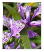 Iris Haiku Fleece Blanket
