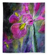 Iris In The Night Fleece Blanket