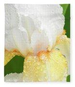 Iris In The Rain II Fleece Blanket