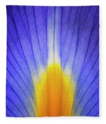 Iris Leaf Abstract Fleece Blanket