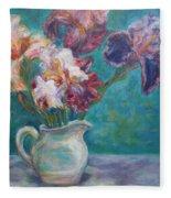 Iris Medley - Original Impressionist Painting Fleece Blanket