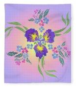 Iris Pinwheel Fleece Blanket