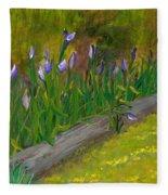 Iris Procession Fleece Blanket