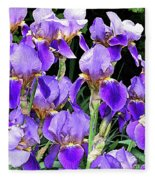 Iris Splendor Fleece Blanket