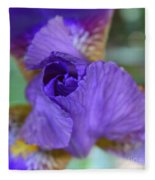 Iris Square Fleece Blanket