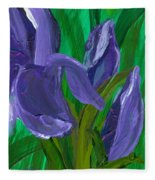 Iris Up Close And Personal Fleece Blanket