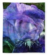 Iris With Buds 9821 Idp_2 Fleece Blanket