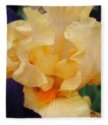 Irises Art Prints Peach Iris Flowers Artwork Floral Botanical Art Baslee Troutman Fleece Blanket