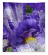 Irises Artwork Purple Iris Flowers Art Prints Canvas Baslee Troutman Fleece Blanket