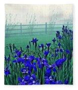 Irises At Dawn 3 Fleece Blanket