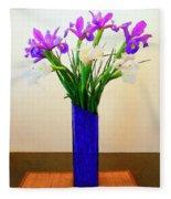 Irises Fleece Blanket