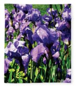 Irises Princess Royal Smith Fleece Blanket
