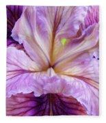 Irises Summer Purple Lavender Iris Flower Art Print Baslee Fleece Blanket