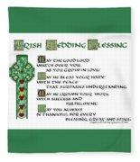 Irish Celtic Wedding Blessing Fleece Blanket