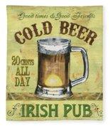Irish Pub Fleece Blanket