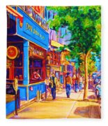 Irish Pub On Crescent Street Fleece Blanket