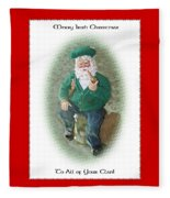 Irish Santa Card Fleece Blanket
