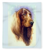 Irish Setter Fleece Blanket