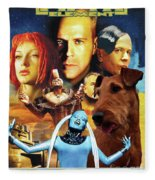 Irish Terrier Art Canvas Print - The Fifth Element Movie Poster Fleece Blanket