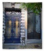 Iron Door Of Brussels Fleece Blanket