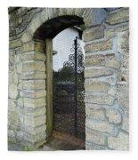 Iron Gate To The Garden Fleece Blanket