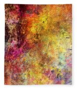 Iron Texture Painting Fleece Blanket