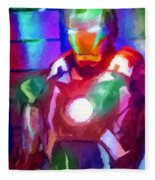 Ironman Abstract Digital Paint 2 Fleece Blanket