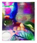 Ironman Abstract Digital Paint 3 Fleece Blanket
