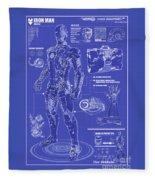 Ironman Patent Fleece Blanket