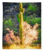 Ironwood Saguaro Dance Vignette Fleece Blanket