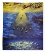 Iroquois Creation Myth Fleece Blanket