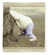 Is Bunny Behind Tree? Fleece Blanket