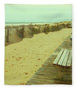 Is This A Beach Day - Jersey Shore Fleece Blanket
