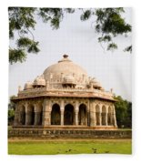 Isa Khan Tomb Burial Sites Fleece Blanket